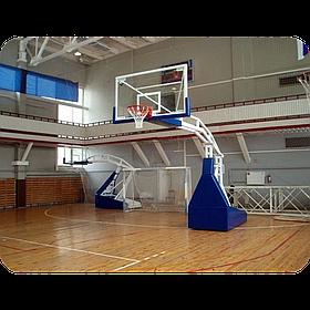 Стойка баскетбольная профессиональная передвижная без обшивки
