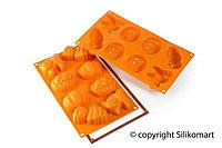 Форма Silikomart 83х43 32мм. 8шт. для выпечки, оранжевая, SF116 HALLOWEEN, 26.116.88.0068