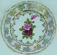 Блюдо круглое 32см перламутровая роза