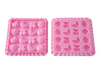 Форма Silikomart 16шт. для мармелада, EC01 Tutti Frutti, 22.751.35.0069