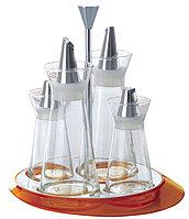 Набор для специй 4пр. (масло, уксус, соль, перец) оранжевый GLAMOUR Casa Bugatti GLOU-02150