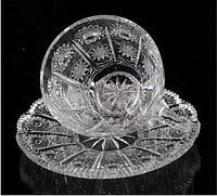 Набор чашек 6персон, 12 предметов, хрусталь, Bohemia, Чехия 2366(2332/200,6631/150)500