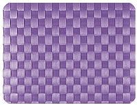 Салфетка подстановочная, 30x41,5см. плетение квадраты, лиловая, Saleen Германия 01011765101