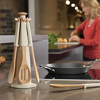 Набор кухонных принадлежностей 7пр. карусель, коричневый Joseph Joseph Elevate 10087