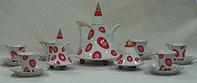 Сервиз кофейный 6персон 15предметов Чехия 95502 obelisk
