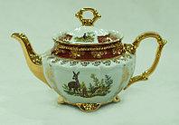 Чайник заварочный Охота бордовая