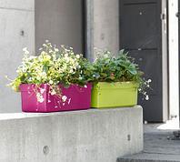 Ящик балконный, цветочный 48x20x16см, с автополивом, зеленый CITY CLASSIC EMSA 514319