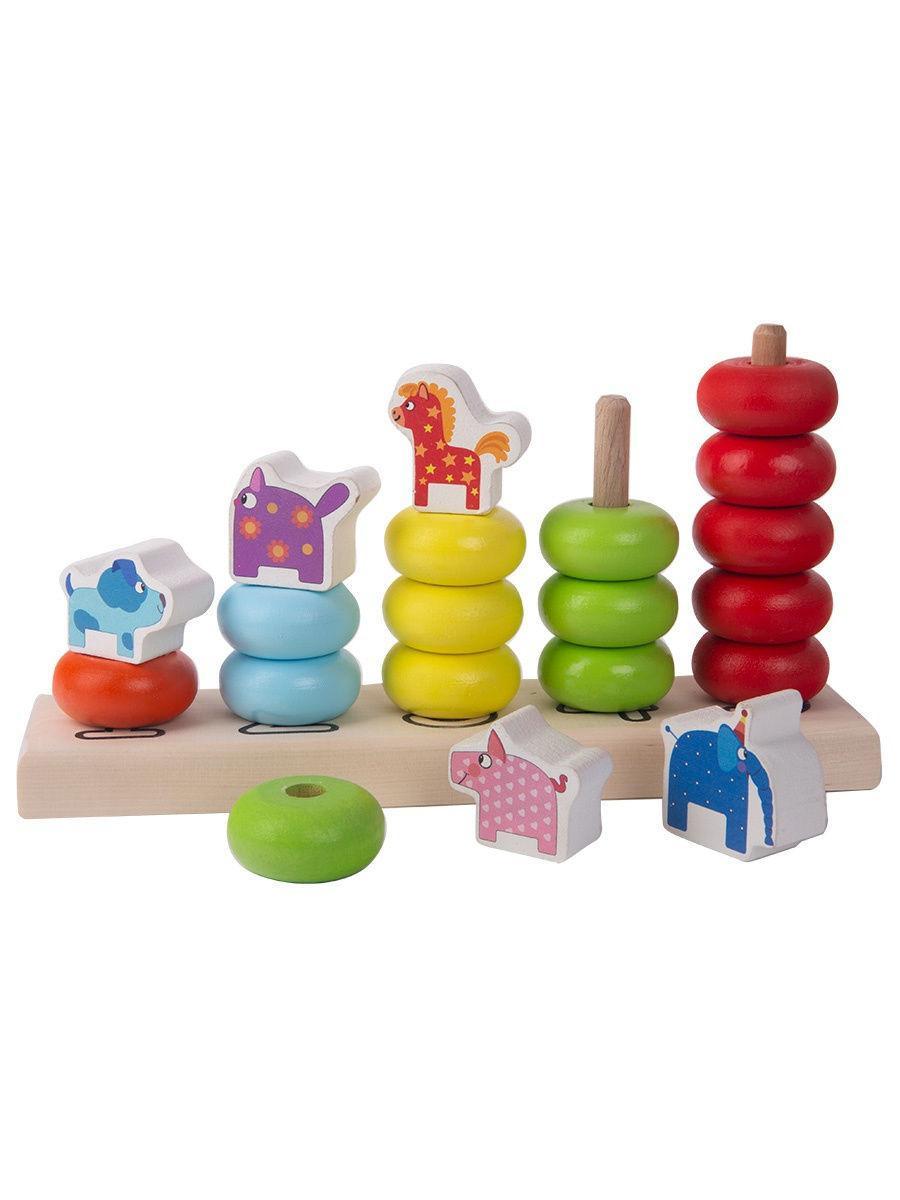 Деревянная игрушка Пирамидка «Деревяшки»