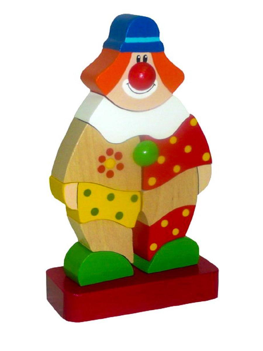 Деревянная Пирамидка «Клоун Клёпа»