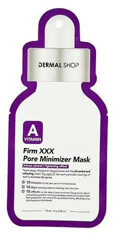 Dermal Shop Тканевая маска Минимизирующая поры маска с витамином А Vitamin A Firm XXX Pore Minimizer Mask