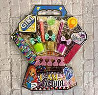 Детский набор для маникюра и педикюра игровой для девочек