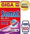 Таблетки для посудомоечной машины Somat All in 1, мультифункциональное средство для мытья посуды(100 таблеток), фото 8