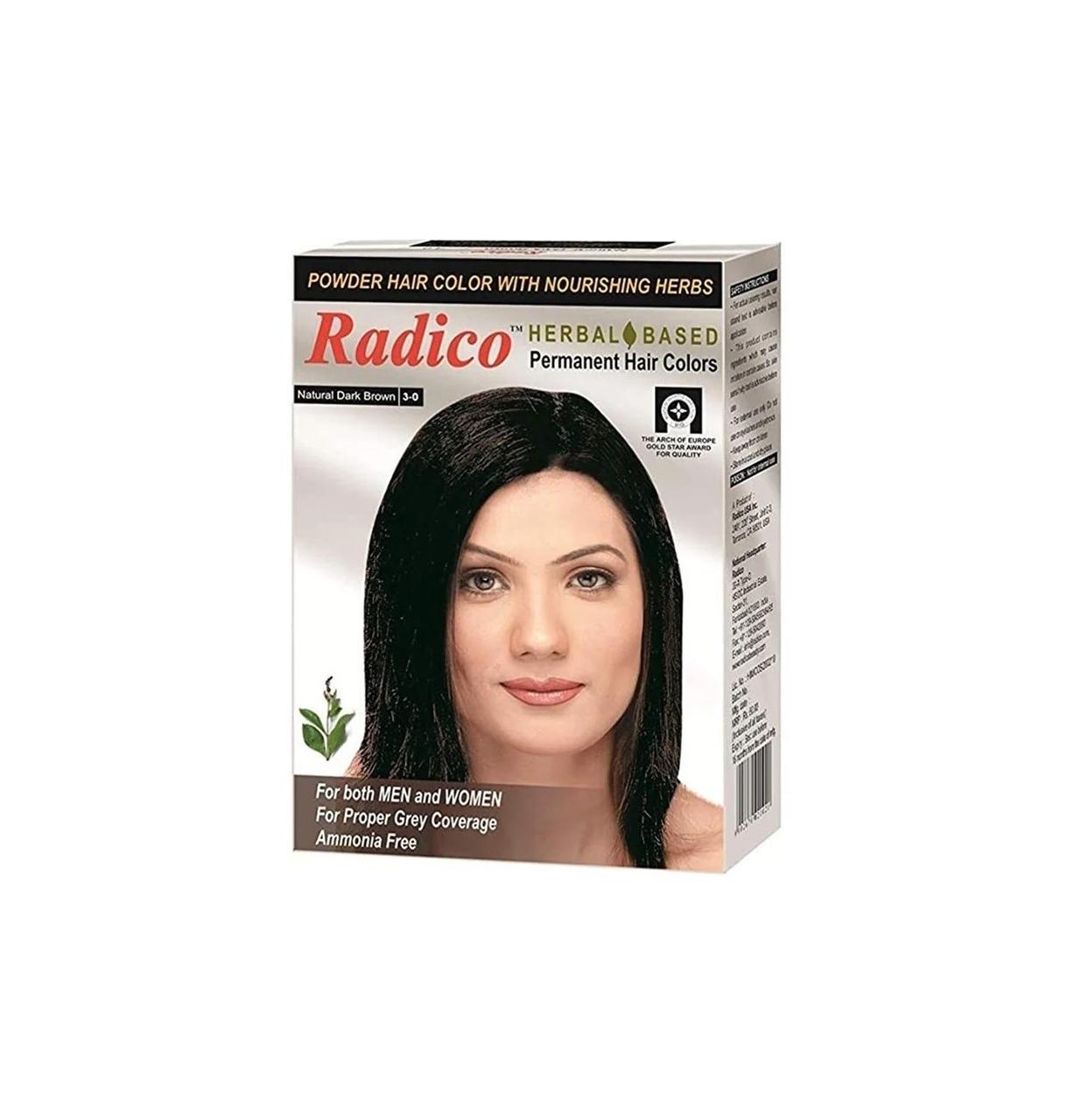 Краска для волос Radico темно-коричневого цвета - фото 1