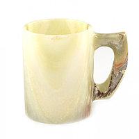 """Сувенирная кружка из камня оникс """"Для чая"""" 0,4 мл 11,7,5х9,5 см"""