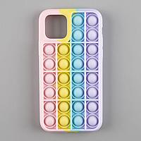 Pop It: Чехол Iphone 11 Pro градиент от Розового/Жёлтого/Бирюзового/к Фиолетовому