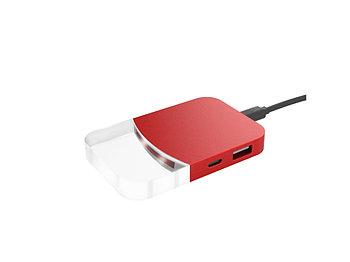 USB хаб Mini iLO Hub, красный