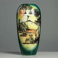 """Ваза напольная """"Аурика"""", природа, зелёная, 44 см, керамика"""
