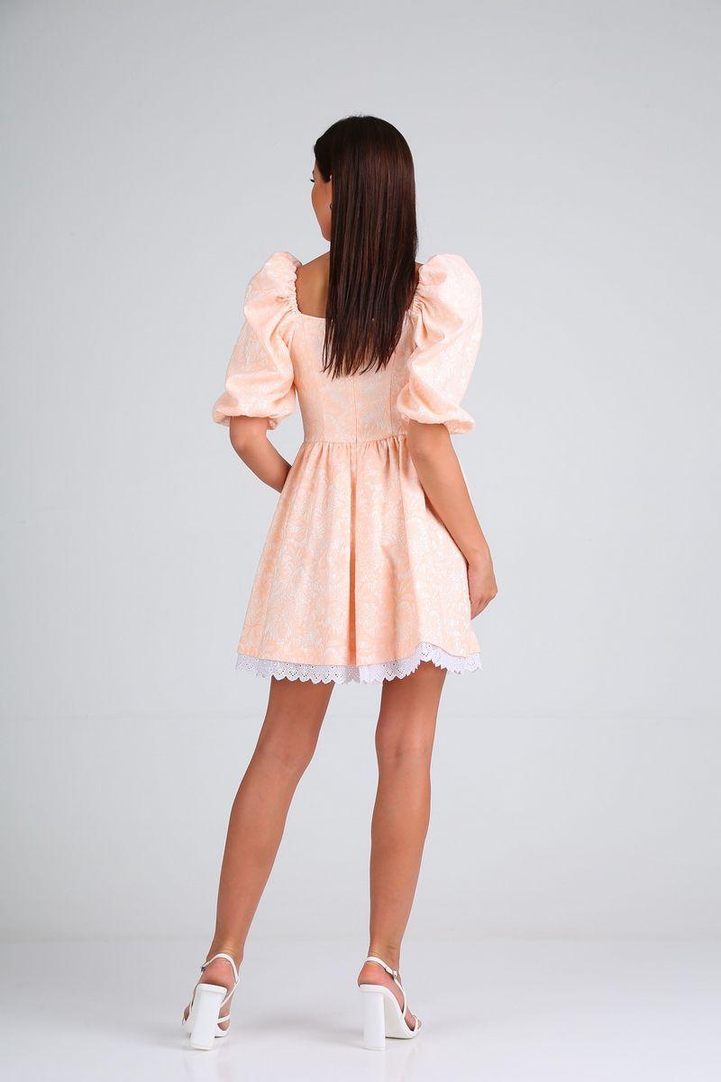 Женское летнее розовое нарядное платье Diamant 1688 пудра 42р. - фото 3