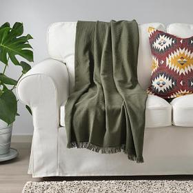 Плед IKEA ОДДРУН  130х170 см темно-зеленый