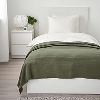 Плед IKEA ОДДРУН  130х170 см темно-зеленый, фото 4