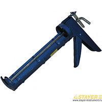Пистолет STAYER 0660 СТАНДАРТ полукорпусной для герметиков, гладкий шток, 310 м