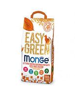 1500 MONGE EASY GREEN, кукурузный, комкующийся наполнитель для кошек, рептилий, грызунов, 10л