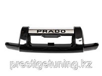 Защита переднего бампера (губа) на Land Cruiser Prado 120 2003-09 Черный