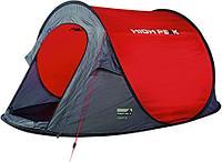Палатка быстросборная HIGH PEAK VISION 2, цвет красный/серый/черный