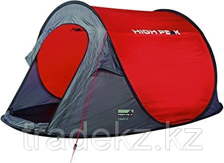 Палатка быстросборная HIGH PEAK VISION 2, цвет красный/серый/черный, фото 2