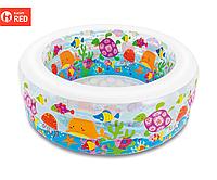 Детский круглый бассейн надувной Аквариум, 152х56 см INTEX | KASPI RED