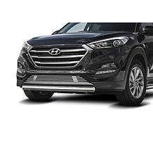 Защита переднего бампера d57 Hyundai Tucson (2015-2021)
