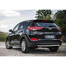 Защита заднего бампера d57 для Hyundai Tucson (2015-2018)