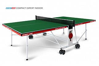 Стол теннисный Start line Compact EXPERT Indoor GREEN с сеткой
