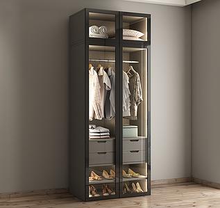 Шкаф для гардеробной прямой (без антресоли)