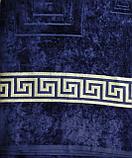 Покрывало - плед велюр/махра. Синий цвет. Хлопок 100%. 150*200. Турция., фото 2