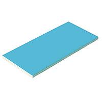 Плитка керамическая Aquaviva голубая, 244х119х9 мм