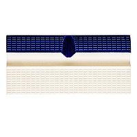 Плитка керамическая бордюрная Aquaviva с поручнем и водостоком, 244x119x30 мм