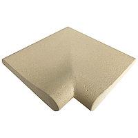 Прямой угловой копинговый камень Carobbio Rustic с микроперфорированной поверхностью, 320x320 мм (песочный)