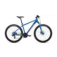 """Велосипед FORWARD APACHE 27,5 2.0 disc (27,5"""" 21 ск. рост 17"""") 2020-2021, синий/зеленый, фото 1"""