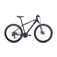 """Велосипед FORWARD APACHE 27,5 2.0 disc (27,5"""" 21 ск. рост 17"""") 2020-2021, черный/серый, фото 1"""