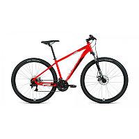 """Велосипед FORWARD APACHE 29 2.2 S disc (29"""" 21 ск. рост 19"""") 2020-2021, красный/серебристый, фото 1"""