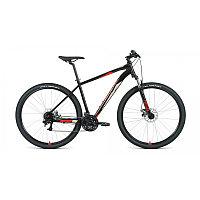 """Велосипед FORWARD APACHE 29 2.2 S disc (29"""" 21 ск. рост 19"""") 2020-2021, черный/красный, фото 1"""