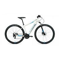"Велосипед FORWARD APACHE 29 3.2 disc (29"" 21 ск. рост 19"") 2020-2021, серый/синий, фото 1"