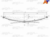Коренной лист рессоры NISSAN NAVARA 05-