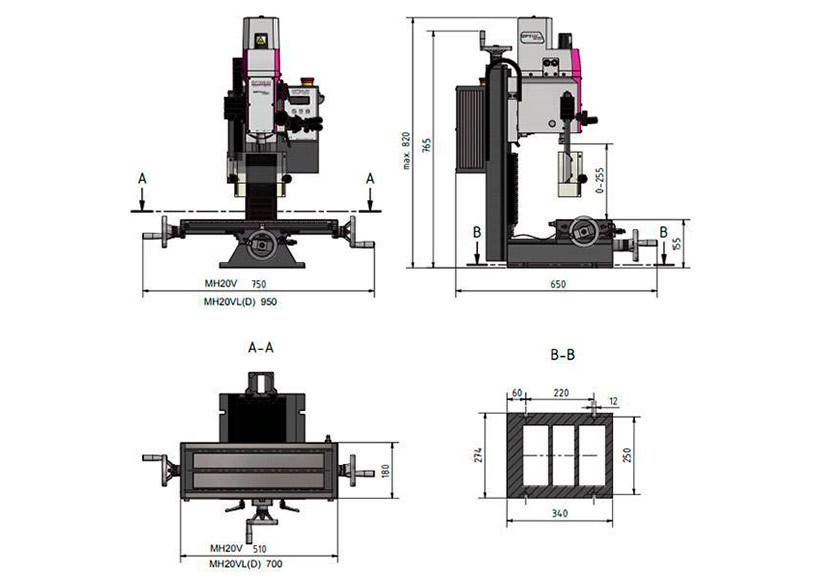 Станок фрезерный Optimum OPTImill MH20VL - фото 4