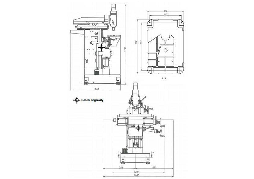 Универсально-фрезерный станок Optimum OPTImill MZ2S - фото 6