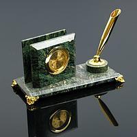 Визитница «Мини»: подставка для ручки, часы