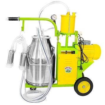 Доильный агрегат, 25 л, поршневой, последовательно выдаивает 8-10 коров, силикон