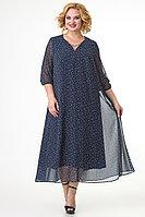Женское осеннее синее нарядное большого размера платье Algranda by Новелла Шарм А3747-с 60р.