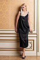 Женское осеннее черное нарядное платье Achosa 2989 черный 42р.